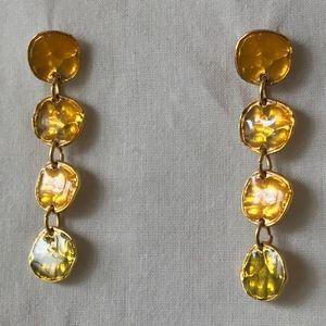 Metal and Enamel Stud Earrings